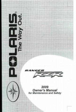 Official 2009 Polaris Ranger RAZR 800 EFI Factory Owners Manual