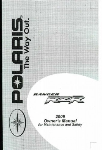 Honda Vin Decoder >> 2009 Polaris Ranger RZR 800 EFI Side by Sides Owners Manual
