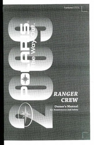 2009 polaris ranger 4x4 700 efi crew owners manual rh repairmanual com 2009 Polaris Ranger 500 2005 Polaris Ranger