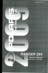 Official 2009 Polaris Ranger 2X4 500 Carb Factory Owners Manual