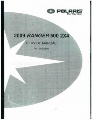 Official 2009 Polaris Ranger 2X4 500 Carb Factory Service Manual