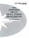Official 2010 Polaris Sportsman 500 Factory Service Manual