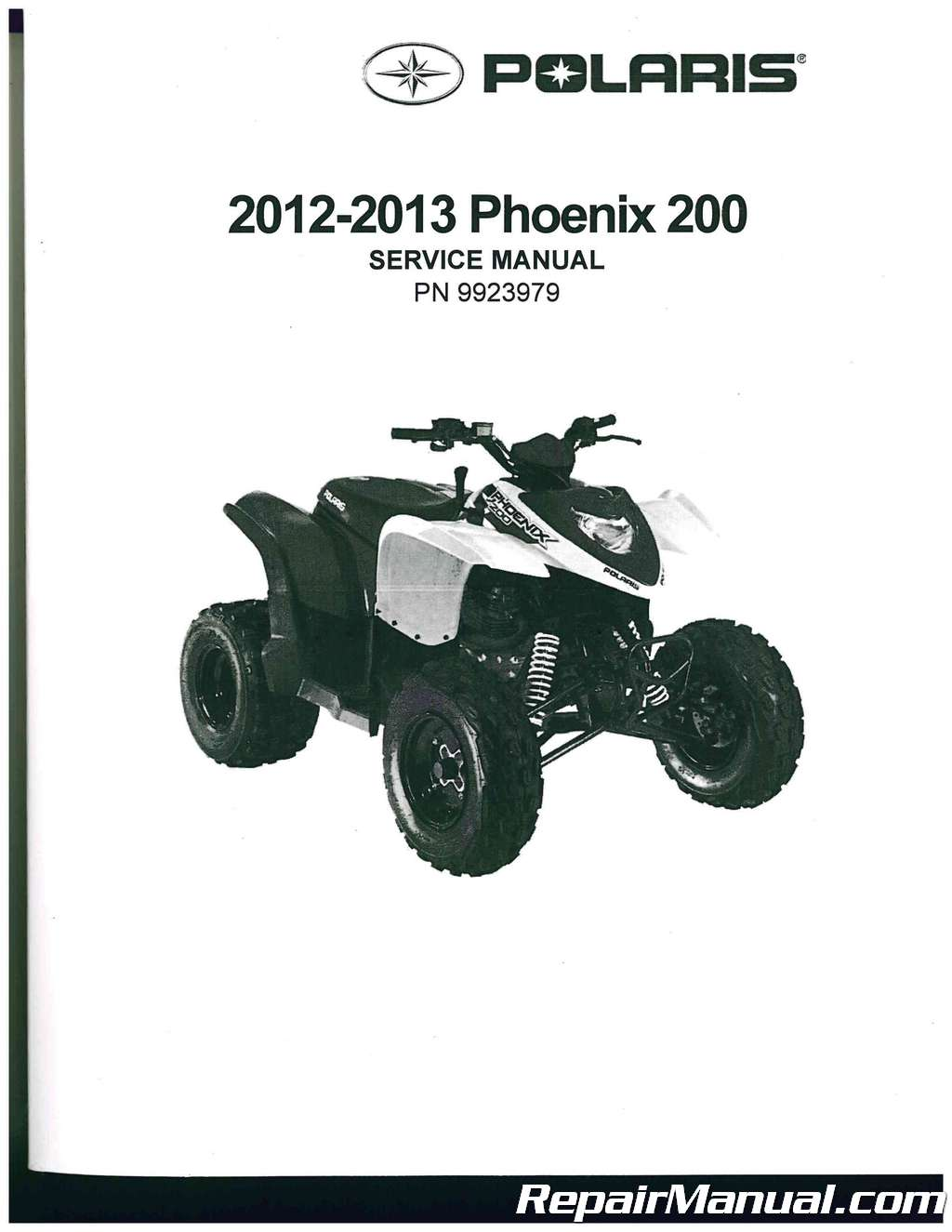 2012 2013 polaris phoenix 200 service manual rh repairmanual com polaris phoenix 200 repair manual polaris phoenix 200 parts manual