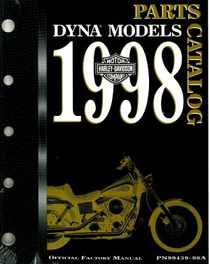 Official 1998 Harley Davidson Dyna Glide Parts Manual
