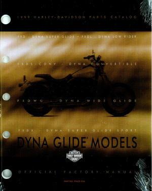 Official 1999 Harley Davidson Dyna Glide Parts Manual