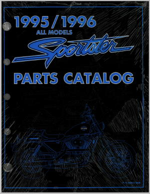Official 1995-1996 Harley-Davidson XLH Parts Manual
