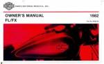 Official 1982 Harley Davidson FL FX Owners Manual