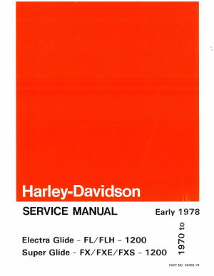 harley davidson electra glide 1972 factory service repair manual