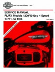 Official 1978 1/2 -1984 Harley Davidson FL FX Service Manual