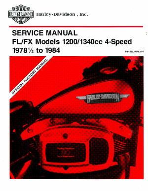 Official 1978 1/2 -1984 Harley Davidson FL FX Service Manual