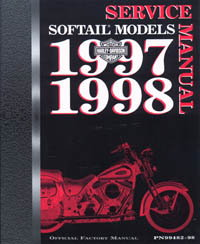 Official 1997-1998 Harley Davidson Softails Service Manual