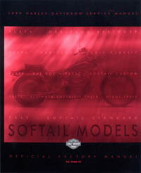 Official 1999 Harley Davidson Softails Service Manual