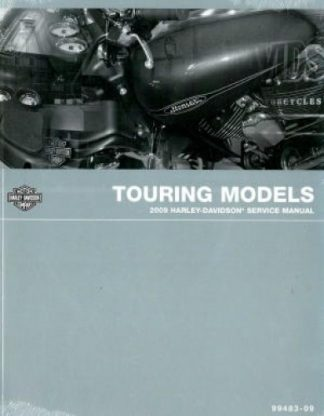 Official 2009 Harley Davidson Touring Service Manual ABS Also Covered