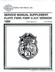 Official 1989 Harley-Davidson FXRP and 1989 Harley-Davidson FLHTP Police Service Manual Supplement