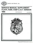 Official 1990 Harley-Davidson FXRP and 1990 Harley-Davidson FLHTP Police Service Manual Supplement