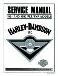 Official 1991-1992 Harley Davidson FLT FXR Service Manual