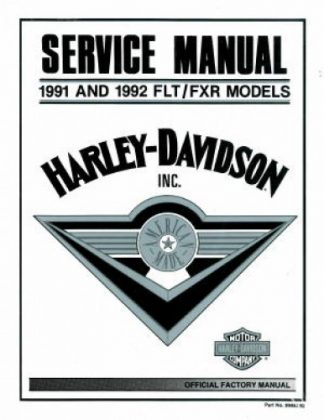 Official 1991-1992 Harley Davidson FLT FXR Service Manual
