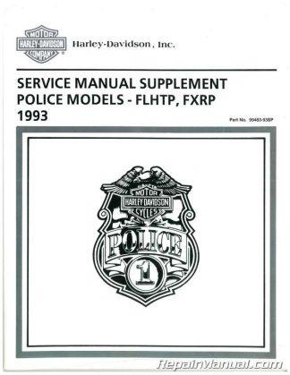Official 1993 Harley-Davidson FXRP and 1993 Harley-Davidson FLHTP Police Service Manual Supplement