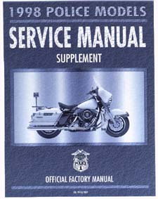 Official 1998 Harley Davidson FLHTP-1 FLHP FLHP-1 Service Manual Supplement
