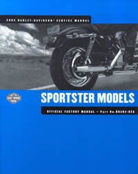 Official 2002 Harley Davidson XLH XL1200C XL1200S XL883R XLH XL883C Service Manual