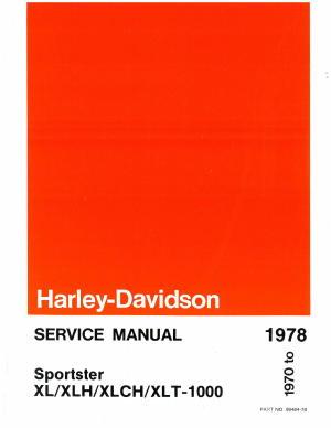 1970 1978 harley davidson sporster xl 1000 repair manual