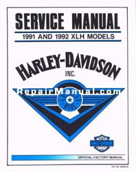 Official 1991-1992 Harley Davidson XL Service Manual