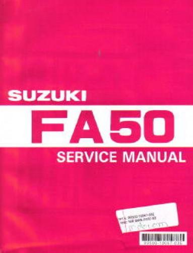 1980 1991 suzuki fa50 service manual rh repairmanual com 1987 suzuki fa50 owners manual suzuki fa 50 service manual