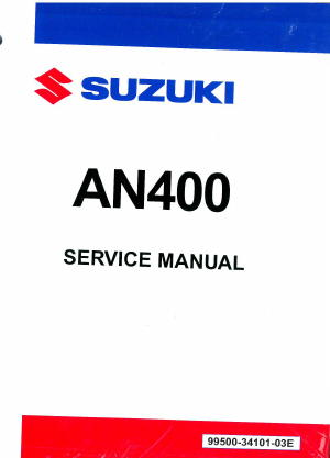 2007 2016 suzuki an400 burgman scooter service manual rh repairmanual com Suzuki Burgman MPG Suzuki Burgman 400 Top Speed