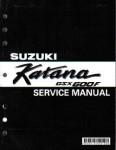 Official 1988-1997 Suzuki GSX600FV Katana Factory Service Manual