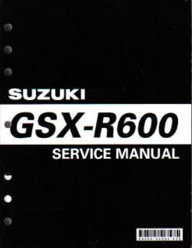 1997 2000 suzuki gsxr600 service manual rh repairmanual com 2007 Suzuki Gsxr 600 2000 suzuki gsxr 600 owners manual