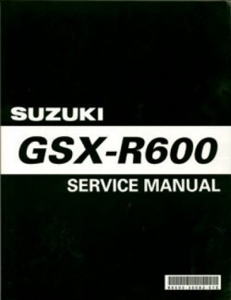 Official 2001-2003 Suzuki GSX-R600 Factory Service Manual
