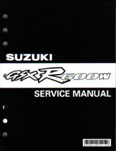 Official 1992-1993 Suzuki GSXR600 Factory Service Manual