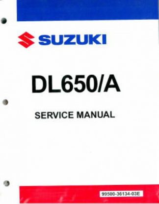 Official 2004-2011 Suzuki DL650 2007-2009 DL650A ABS V-Strom Factory Service Manual