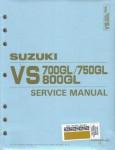 Used Official 1987-1991 Suzuki VS700GL VS750GL VS800GL Factory Service Manual