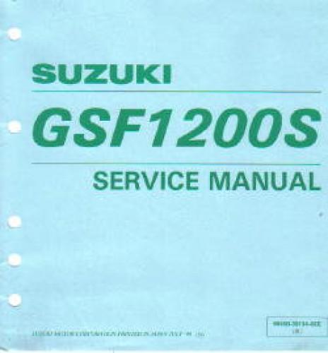 suzuki gsf 1200 service manual pdf