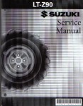Used 2007-2008 Suzuki LT-Z90 QuadSport ATV Factory Service Manual