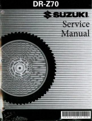 Official 2008-2009 Suzuki DR-Z70 Factory Service Manual