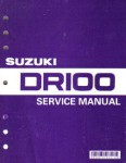 Official 1983-1990 Suzuki DR100 SP100 Factory Service Manual
