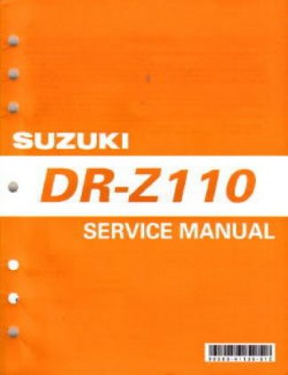 Used Official 2003 Suzuki DR-Z110K Motorcycle Factory Service Manual