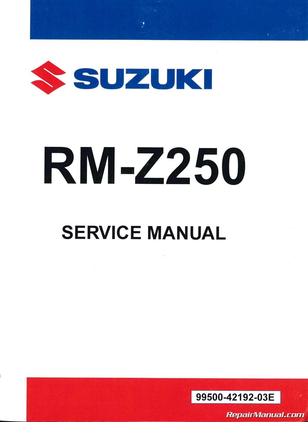 2010 2011 2012 2013 2014 suzuki rm z250 motorcycle service manual 2004 Suzuki RMZ 250 Manual 2004 Suzuki RMZ 250 Manual