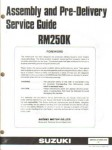 Used Official 1989 Suzuki RM250K Assembly Manual