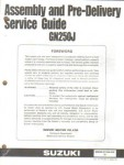 Used Official 1988 Suzuki GN125J Assembly Manual
