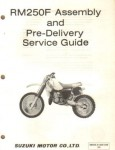 Used Official 1985 Suzuki RM250F Assembly Manual