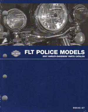 Official 1996 Harley Davidson FLT Police Parts Manual Supplement
