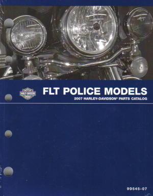 Official 1996 Harley Davidson FLT Police Parts Manual Supplement