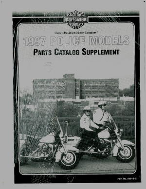 Official 1997 Harley Davidson FLT Police Parts Manual Supplement