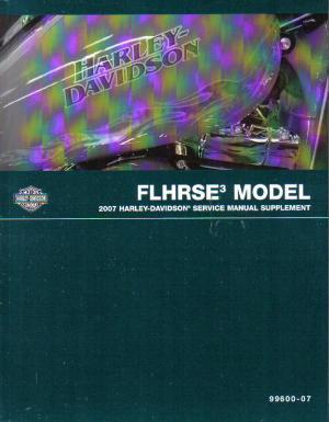 Official 2007 Harley Davidson FLHRSE3 Service Manual Supplement