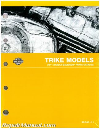 Official 2011 Harley-Davidson FLHTCUTG Tri Glide Touring Parts Manual