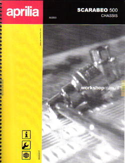 Official 2004 Aprilia Scarabeo 500 Chassis Electrial Manual