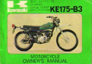 1980 Kawasaki KZ750H1 LTD Motorcycle Owners Manual